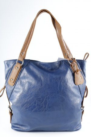 L.credi Carry Bag blue-light brown simple style