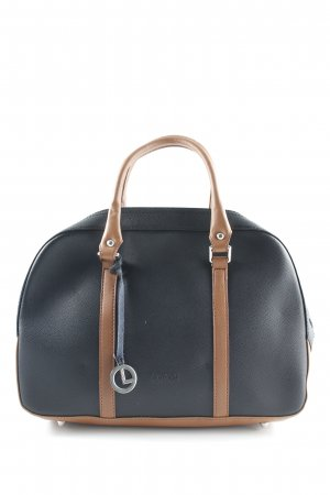 L.credi Carry Bag black-cognac-coloured classic style
