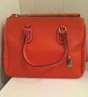 L.Credi Leder Handtasche orange