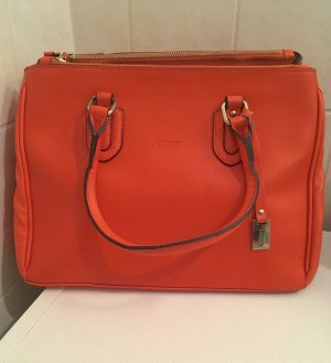 L.Credi Leder Handtasche orange