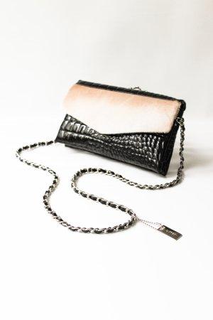 L.credi Luxus Echt Leder Handtasche/ Umhängetasche/ Clutch lacklook
