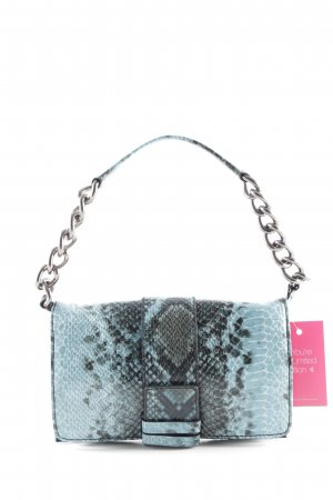 L.credi Mini sac noir-turquoise imprimé reptile