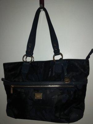 L.credi Shoulder Bag blue-grey brown nylon