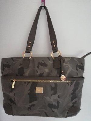 L.credi Shoulder Bag grey brown-green grey nylon
