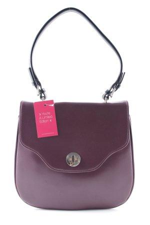 L.credi Schultertasche purpur-schwarz Elegant