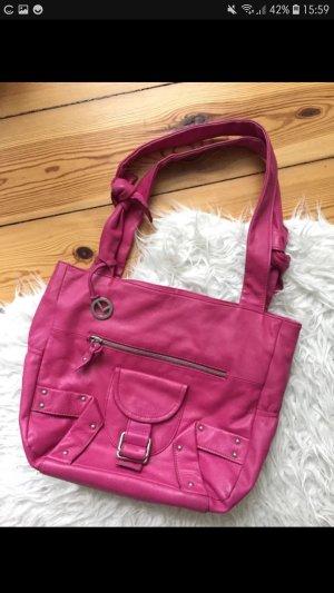 L. Credi shopper Pink Leder
