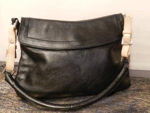 L.Credi vintage Satchel bag / Umhängetasche schwarzbraun - TOP