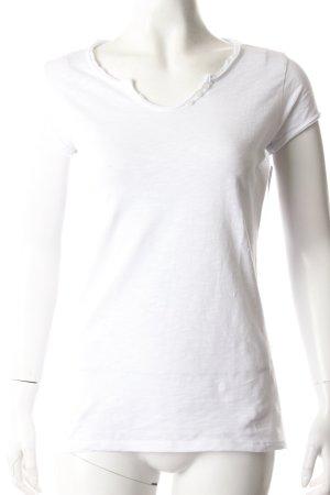 L. F. M T-Shirt weiß