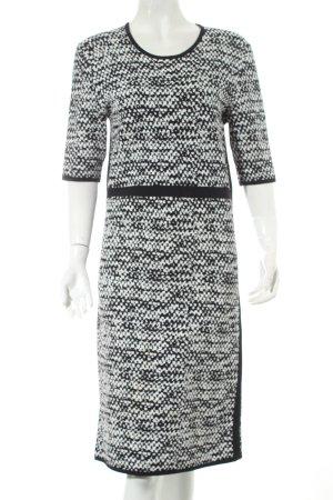 L.k. bennett Kurzarmkleid schwarz-wollweiß abstraktes Muster