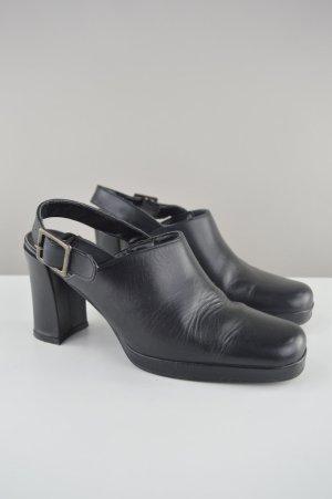 L. Lambertozzi Sandaletten mit Schnalle schwarz Größe 38