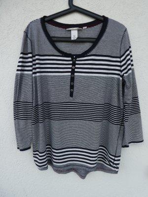 L.O.G.G. by H&M – Damen Pullover, dunkelblau-weiß gestreift – Gebraucht, fast wie neu