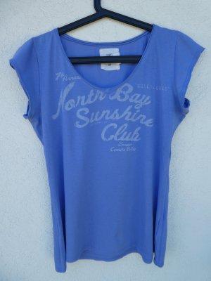 L.O.G.G. by H&M  – T-Shirt, blau mit Aufdruck - Gebraucht