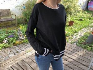L.O.G.G. Pulli schwarz mit weißen Streifen Gr. S neu