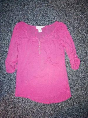 L.O.G.G. Shirt dreiviertel Arm pink H&M M