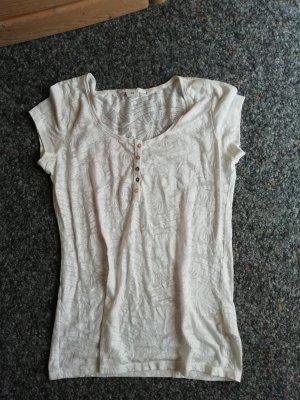 L.O.G.G. Shirt weiß gemustert H&M M