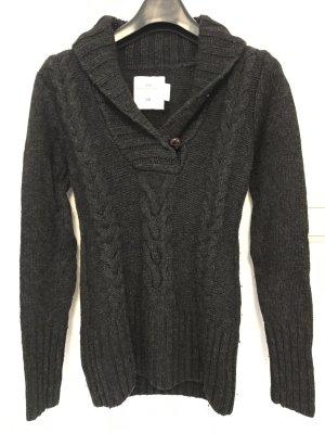 H&M L.O.G.G. Jersey trenzado gris antracita