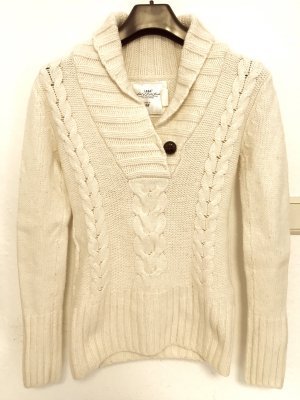 H&M L.O.G.G. Cable Sweater natural white