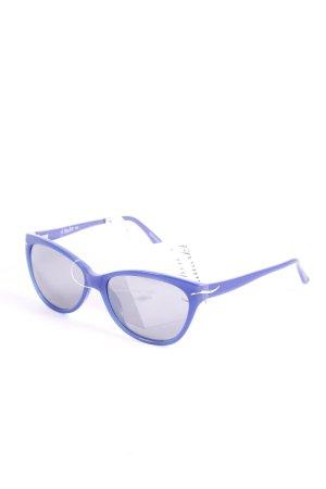 L'wren scott ovale Sonnenbrille blau Street-Fashion-Look