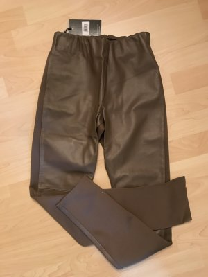 Leather Trousers light brown-beige leather