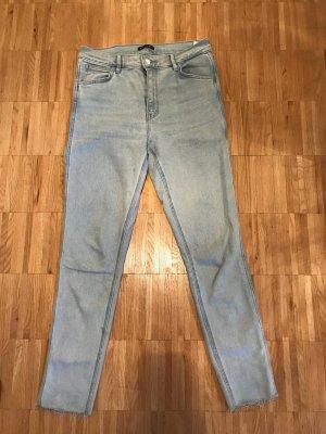 Levi's Pantalón de cintura alta gris claro Algodón