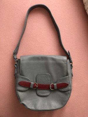 Borsellino grigio chiaro-rosso scuro