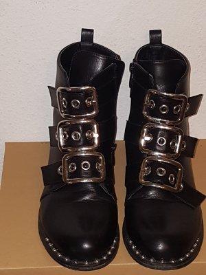 La Bottine Souriante Echtleder Nieten Boots Gr 40 41