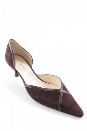 la coupe d'or Spitz-Pumps dunkelbraun Business-Look