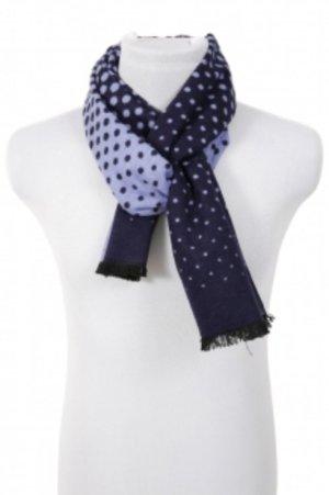 & Zijden sjaal neon blauw-azuur Zijde