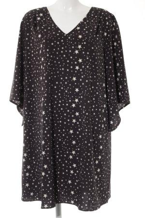 La Dress Blusenkleid schwarz-creme Sternenmuster Casual-Look