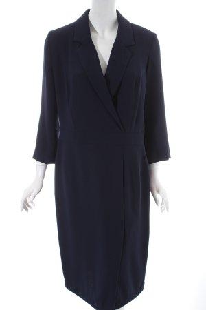La Dress Hemdblusenkleid dunkelblau schlichter Stil