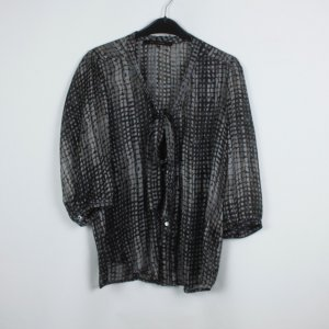 La Fee Maraboutee Bluse Gr. 40 schwarz grau gemustert transparent (19/04/052)