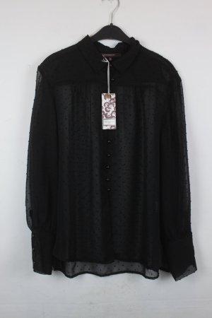 La Fée Maraboutée Bluse Gr. 42 schwarz transparent NEU