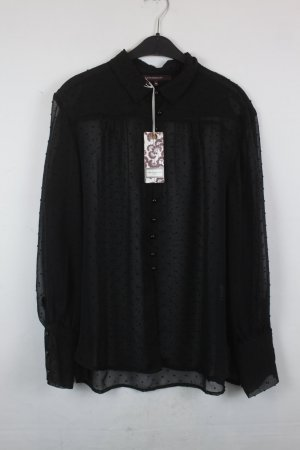 La fée maraboutée Bluse Gr. 42 schwarz transparent NEU mit Etikett (18/2/513)