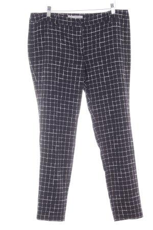 la fée maraboutée Pantalon fuselé noir-blanc motif à carreaux style anglais