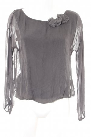 la fée maraboutée Langarm-Bluse grau Casual-Look