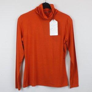 La Fee Maraboutee Rollkragenpullover Gr. S orange NEU mit Etikett (18/2/535)
