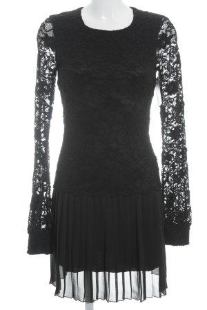 la fée maraboutée Kanten jurk zwart Geweldige look
