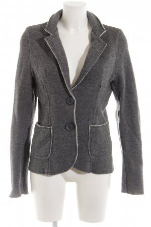 la fée maraboutée Knitted Blazer light grey flecked casual look