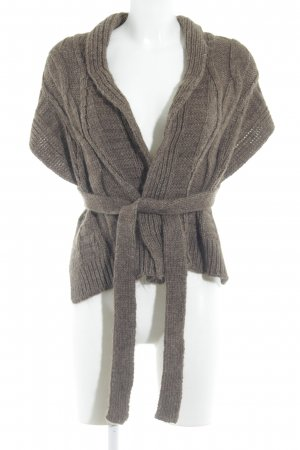 la fée maraboutée Knitted Wrap Cardigan light brown simple style