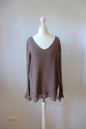 la fée maraboutée Top Bluse Shirt Langarm braun zimt Gr. 36 38 S