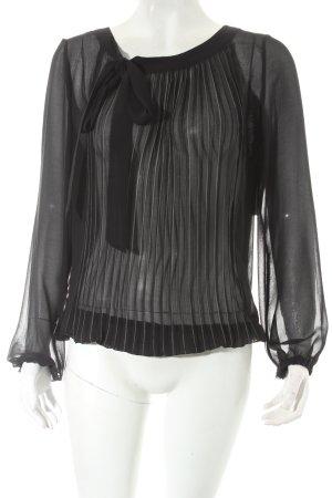 la fée maraboutée Transparenz-Bluse schwarz Elegant
