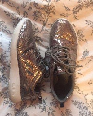 Sneakers met veters brons