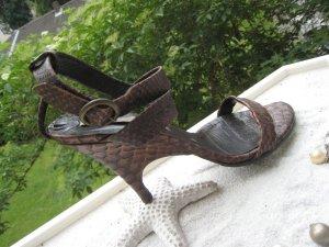 La Lopez Luxus Leder Python Vintage Feminin Form NP 280 € Top