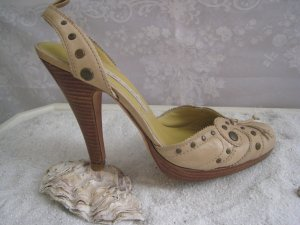 La Lopez Luxus Schuhe Elegant & Edel  Sand Nude Töne hoher NP Top