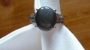 La Luna / HSE24 Ring 925er Sterlingsilber mit grauem Mondstein Gr. 16