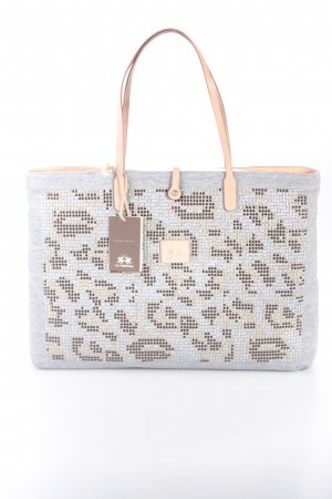 La Martina Catalina Shopping Bag Grey/Leopard Shopper grau