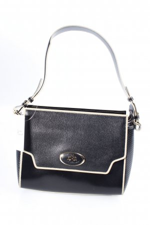 La Martina Handtasche schwarz-beige klassischer Stil