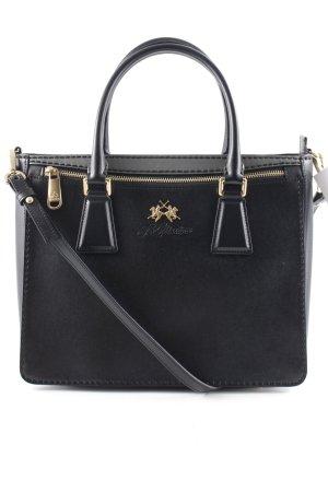La Martina Handtasche schwarz-grau schlichter Stil