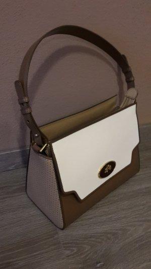 LA MARTINA Handtasche, taupe/beige/weiß
