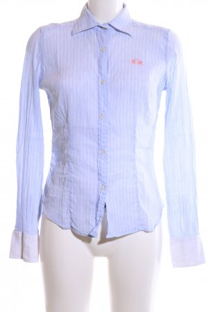 La Martina Hemd-Bluse blau-weiß Streifenmuster Business-Look